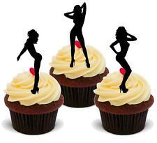 Nouveauté sexy female silhouettes 12 debout comestibles cake toppers danseurs anniversaire