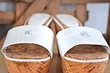 Ralph Lauren women's white wedge sandal sz 7.5