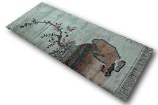 Tapis Pont véritable China Soie très bien Image 70x155 cm Noué à la main 100%
