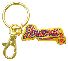 Atlanta Braves MLB Logo Metal Key Chain