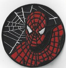 SPIDERMAN  IRON ON PATCH .3  INCH ROUND BUY 2 WE SEND THREE