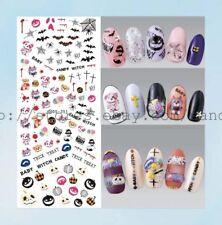 US Seller- bear Halloween pumpkin water nail decal fingernail art supplies