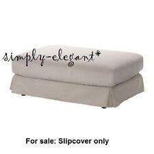 IKEA Cover for Ikea Hovas Footstool Ottoman Slipcover Graddo Off-white Corduroy