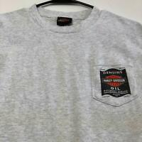 Harley Davidson Adult Short Sleeve Graphic T Shirt Medium Gray Crewneck Spellout