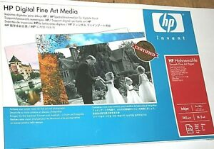 """HP Q8728A Hahnemuhle Smooth Fine Art Paper-13"""" x 19""""-25 Sheets-Factory Sealed"""