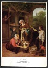 "JAN STEEN ""The Milkman"" Unused Vintage Art Postcard Medici Society London"