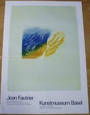 swiss EXHIBITION POSTER 1987 - JEAN FAUTRIER - PRINTED WORKS art print