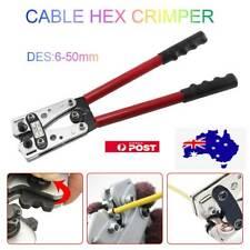 6 - 50 mm² Anderson Plug Crimp Crimping Tool Indent Mark Cable Lug Hex Crimper