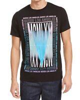 Guess Mens T-Shirts Black Size Medium M Crewneck Mirror Graphic Tee $34 338