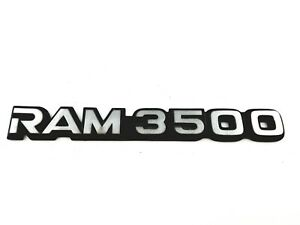 94-01 DODGE RAM3500 TRUCK VAN SIDE REAR EMBLEM BADGE LOGO W/ ADHESIVE OEM (2000)