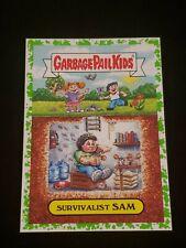 Garbage Pail Kids GREEN Survivalist Sam 6a GPK 2016 American As Apple Pie