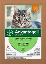Bayer Advantage II Flea Treatment for Small Cats 5-9 lbs - 6 Pack