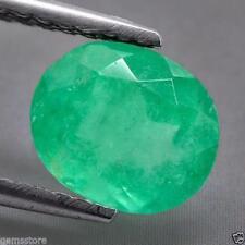 2.46Carat 100% Natural 9.6X8.0X5.6MM Green Color Cushion Cut Colombian Emerald