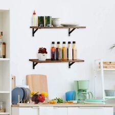 Display Ledge Shelf Floating Shelves Wall Mounted Set of 2 Rustic Wood Storage