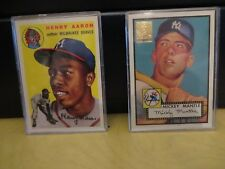 TOPPS HENRY AARON / MICKEY MANTLE REPRINTS EXCELLENT CONDITION