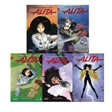 BATTLE ANGEL ALITA by Yukito Kishiro Deluxe HARDCOVER Editions Set of Books 1-5
