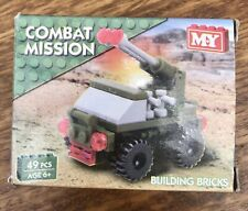 M.Y Combat Mission Army Military Jeep Missile Vehicle Building Blocks Brick 49ps