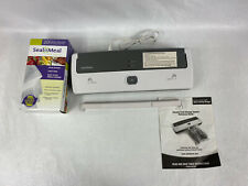 """Sunbeam Seal A Meal V100 Vacuum Food Sealer With Bags""""free Shipping"""""""
