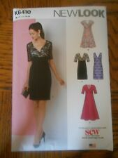 NEW LOOK SEWING PATTERN  K 6410 DRESS SIZE US. 10 - 22
