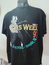 Elvis Presley Shirt Elvis Week Memphis 1997 Size XL Vintage Authentic Product