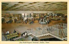 c1960 Love Field Airport Interior View, Dallas, Texas Postcard