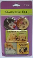 Dogs Bible Captions Sayings Fridge Magnet Set of 5 Christian Art Gifts New