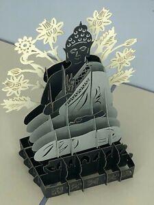 Buddha 3D Pop Up Card Spirituality Yoga Belief Religion Meditation Wellness God