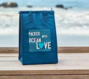 New RUBIO'S COASTAL GRILL Insulated Zip Top Lunch Bag - World Oceans Day 2019