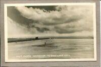 Postcard Utah Wendover Salt Flats Semi Truck Real Photo RPPC c1950s 2597N