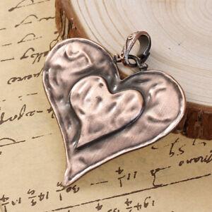 Antique Copper Heart Large Charms Pendants 74mm TSC103B