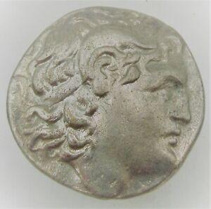 ANCIENT GREEK AR SILVER TETRADRACHM COIN OF ALEXANDER THE GREAT 13.64G
