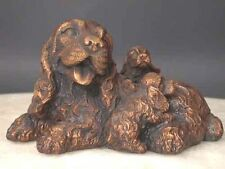 Bronze Spaniel Dog Family Sculpture