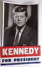 JOHN F KENNEDY SIGNED CAMPAIGN BUMPER STICKER & 8X10 PHOTO OWNED BY KENNEDY COA