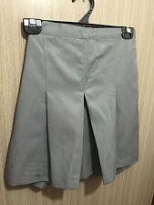 BNWT Girls Medium Grey Midford Brand Sz 8 School Uniform Skort Style Culottes