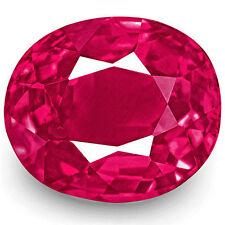 Slight Cushion Transparent Loose Natural Rubies