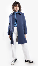 A.P.C. Wool Coat Mac Dinard Marine - a-line greyish blue size FR 38 / UK 10
