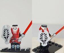 Custom LEGO minifig Star Wars Sith Lord Darth Desolous with Customized Shield