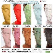 CASMARA 10 peel off masks FULL COLLECTION -VARIETY of 10 luxury facial mask