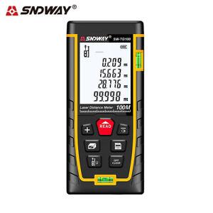 SNDWAY 120M Digital Laser Point Distance Meter Tape Range Finder Measure Tools