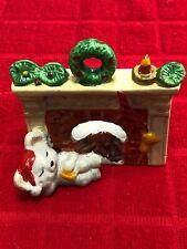 Vintage 1988 Fireside Friends/Ceramic Candle Holder