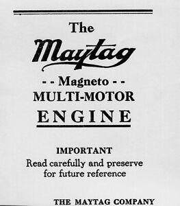 Maytag Magneto Multi Motor Engine Operating Instruction