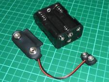 PP9 Battery Adapter x1 Converter 6xAA Holder PP9 Battery Eliminator