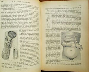 Medical 'Text-Book on Surgery' 1900 by John A. Wyeth, MD. - Illustrated