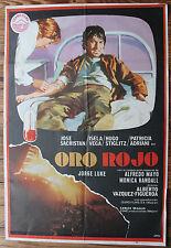 Used - Cartel de Cine   ORO ROJO  Vintage Movie Film Poster - Usado