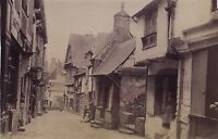 Vetro Bretagna Scena Di Strada Vintage Albumina Verso 1880