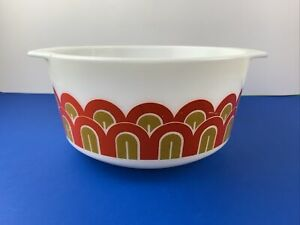 Vintage Pyrex 3 Quart ARCHES/FISH SCALES Art Deco 1971 Bowl, #344