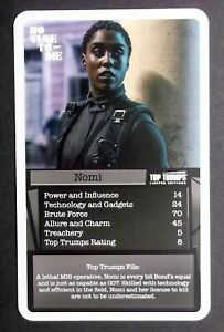 1 card Top Trumps Bond 007 Assignment No Time to Die - Nomi - Lashana Lynch