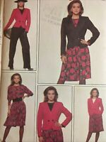 1988 Style 1407 UNCUT Sewing Pattern Jacket Skirt Top Pants So 8 10 12 14 16 18