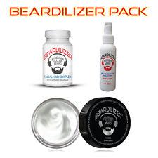 Beardilizer ValuePack Supplement 90caps+Conditioner Cream 4oz+Growth Spray 4oz