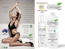 COLLAGEN TAN ORGANIC 1 HOUR RAPID! Professional Spray Tan Tanning Solution 500ml
